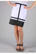 Прямая юбка черно-белой расцветки | 294-blanca