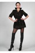 Черная удлиненная блузка | 0386