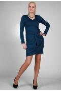 Синее трикотажное платье Chertina&Durre | 9799
