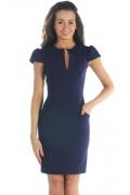 Темно-синее платье из костюмной ткани | DSP-07-23t