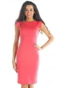 Коралловое платье из ткани джерси | DSP-52-30t