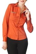 Стильная оранжевая блузка Golub | Б657-1028