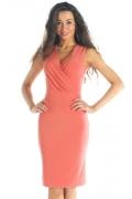 Трикотажное платье персикового цвета | DSP-56-31t