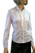 Белая офисная блузка | Б762-1217