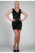 Черное короткое платье Chertina-Durre | 9829