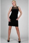 Черное платье без рукавов | 9839