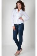Белая офисная блузка Golub Б659-2194