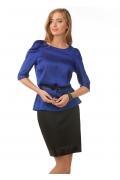 Блузка из синего шифона | Б832-1574