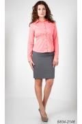 Женская блузка кораллового цвета Б834-2146
