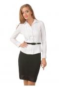 Белая блуза рубашечного кроя | Б835-724
