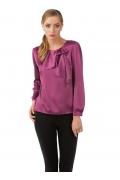 Фиолетовая блузка из шифона | Б837-1573