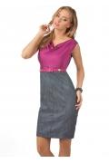 Серо-розовое платье Golub | П155-1605-1573