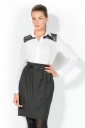 Блузка украшенная кружевом | 4662