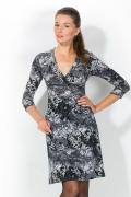 Черно-белое облегающее платье | 1712