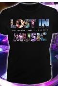 Мужская футболка Lost in music (Светится в темноте и ультрафиолете)