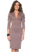 Платье с глубоким вырезом на груди | DSP-58-28t