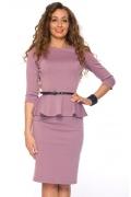 Платье с баской Donna Saggia | DSP-66-23t