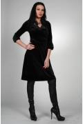 Черное бархатное платье | 9942