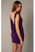 Фиолетовое платье с открытой спиной | 3406