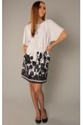 Эксклюзивное черно-белое платье | 3472