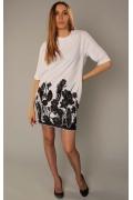 Черно-белое платье-туника | 3479