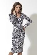 Черно-белое платье TopDesign | B2 007