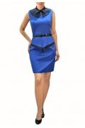 Стильное синее платье Golub | П163-1774-1752