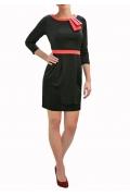 Черное трикотажное платье Golub | П181-1658-1629