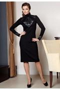 Черное платье с серебристым кружевом TopDesign premium | PB2 37