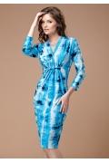 Яркое голубое платье TopDesign | B1 068