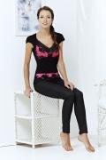 Черно-розовый женский топ TopDesign | A3 158