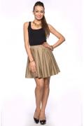 Золотистая юбка в складку | DSU-14-41