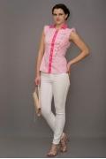 Красивая бело-розовая блузка Golub | Б865-1841-1616