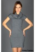 Недорогое трикотажное платье Yiky Fashion | 8001