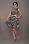 Стильное черно-белое платье Golub | П190-954