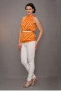 Оранжевый женский топ Golub | Т233-1516-1625