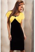Черно-желтое платье Enny | 15013
