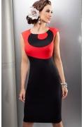 Черно-красное платье Enny | 15001