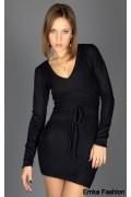 Маленькое черное платье Yiky Fashion | 8681