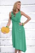 Длинное зеленое платье Zaps Magnolia