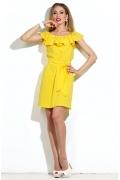 Коктейльное платье желтого цвета | DSP-16-47