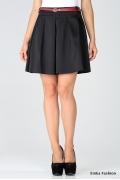 Короткая черная юбка Emka Fashion | 357-amina