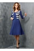 Платье синего цвета TopDesign | B3 053