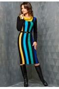 Полосатое платье Topdesign | B3 118