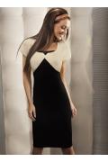 Черно-бежевое платье Enny | 15013