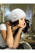 Белая шапка Kamea Olivia