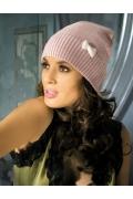 Розовая женская шапочка Kamea Doris