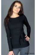 Облегающий черный джемпер Yiky | 8009