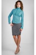 Бирюзовая блузка Golub | Б271-2073