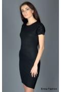 Чёрное платье с ангорой | 304407